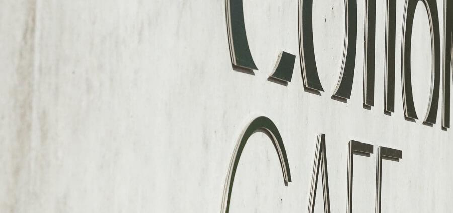 Collonge Bellerive signaletique lettres decoupees inox details 2